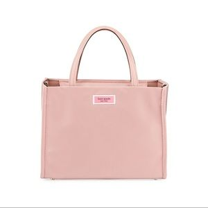 Kate Spade Pink Gold Nylon Tote Satchel Dusty Rose